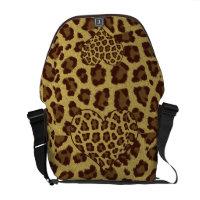 leopard print hearts bag rickshawmessengerbag