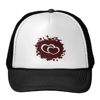 Leopard Print Hearts Paint Splatter Trucker Hat
