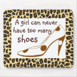 Leopard Print High Heel Shoes Mouse Pads