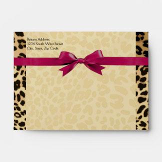 Leopard Print Hot Pink Girl Matching Envelope