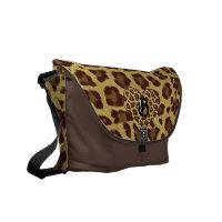 leopard print initial bag rickshawmessengerbag