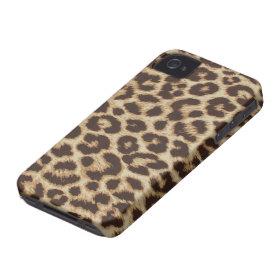 Leopard Print iPhone 4/4S Case Mate Case iPhone 4 Cover