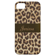 Personalized Name Leopard animal Print iPhone Case