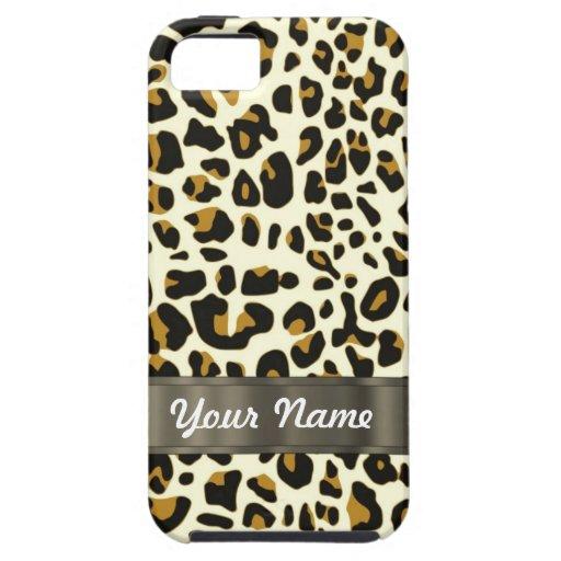 leopard print iPhone 5 cover