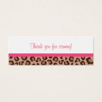 Leopard Print Jungle Baby Shower Favor Gift Tags