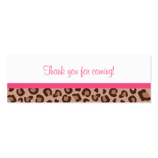 Leopard Print Jungle Baby Shower Favor Gift Tags Double-Sided Mini Business Cards (Pack Of 20)