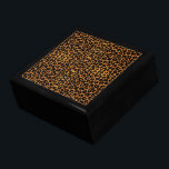"""Leopard Print Keepsake Box<br><div class=""""desc"""">Nothing shows off your wild side like an animal print.   Keep your dresser uncluttered and organized with this handsome black lacquer box featuring a leopard skin tile insert.  Display it anywhere you want to add a touch of elegance.</div>"""