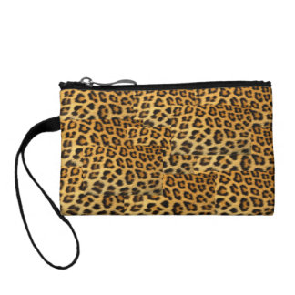 Leopard Print Key Coin Clutch Change Purse