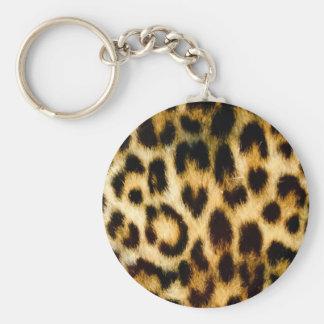 Leopard print keychain