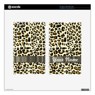 leopard print kindle fire decal