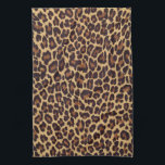 "Leopard Print Kitchen Towel<br><div class=""desc"">Beautiful exotic spotted gold and black leopard print.</div>"