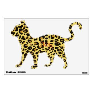 Leopard Print Kitty Wall Sticker