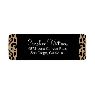 Leopard Print Label