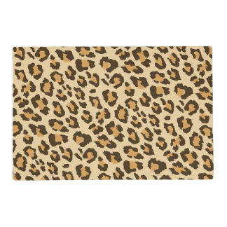 Leopard Print Laminated Placemat