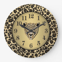 Leopard Print Large Clock
