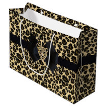 Leopard Print Large Gift Bag