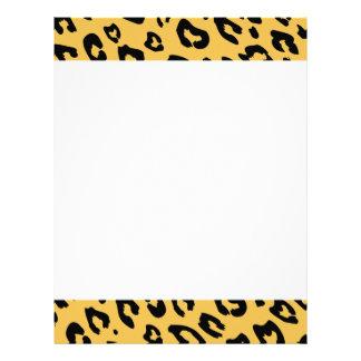 Leopard print letterhead writing paper