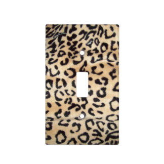 Leopard Print Light Switch Cover