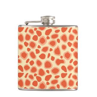 Leopard Print - Mandarin and light orange Hip Flask