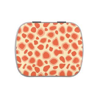 Leopard Print - Mandarin and light orange Jelly Belly Tins