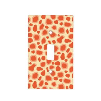 Leopard Print - Mandarin and light orange Light Switch Cover