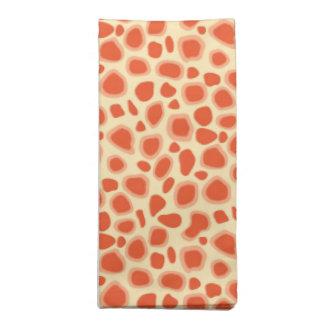Leopard Print - Mandarin and light orange Napkin