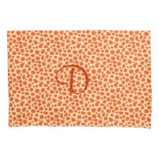 Leopard Print - Mandarin and light orange Pillow Case