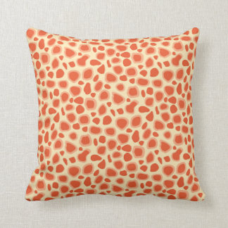 Leopard Print - Mandarin and light orange Throw Pillow