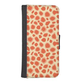 Leopard Print - Mandarin and light orange Wallet Phone Case For iPhone SE/5/5s