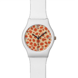Leopard Print - Mandarin and light orange Wristwatch