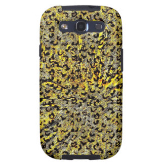 Leopard Print Martini Glass abstract in yellow Samsung Galaxy S3 Cases
