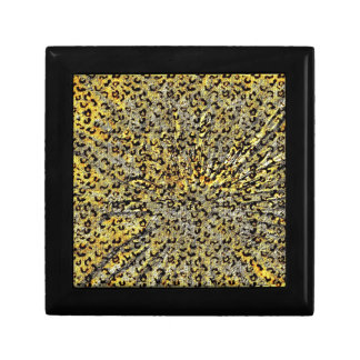 Leopard Print Martini Glass abstract in yellow Gift Box