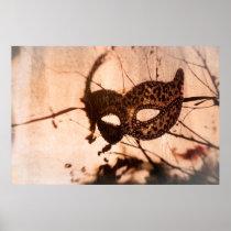 leopard print maschera poster bronze tint