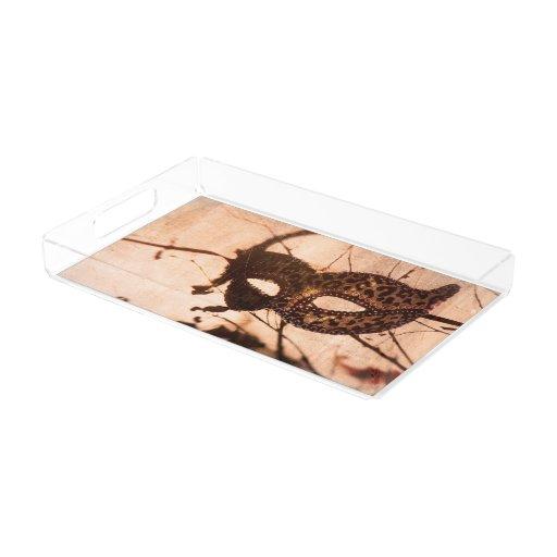 Leopard Print Maschera Vanity Tray Rectangle Serving Trays