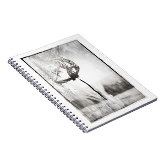 leopard print masque black and white notepad notebook