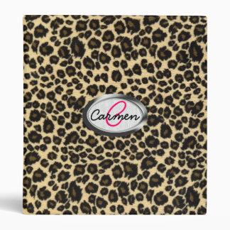 Leopard Print Monogram Binder