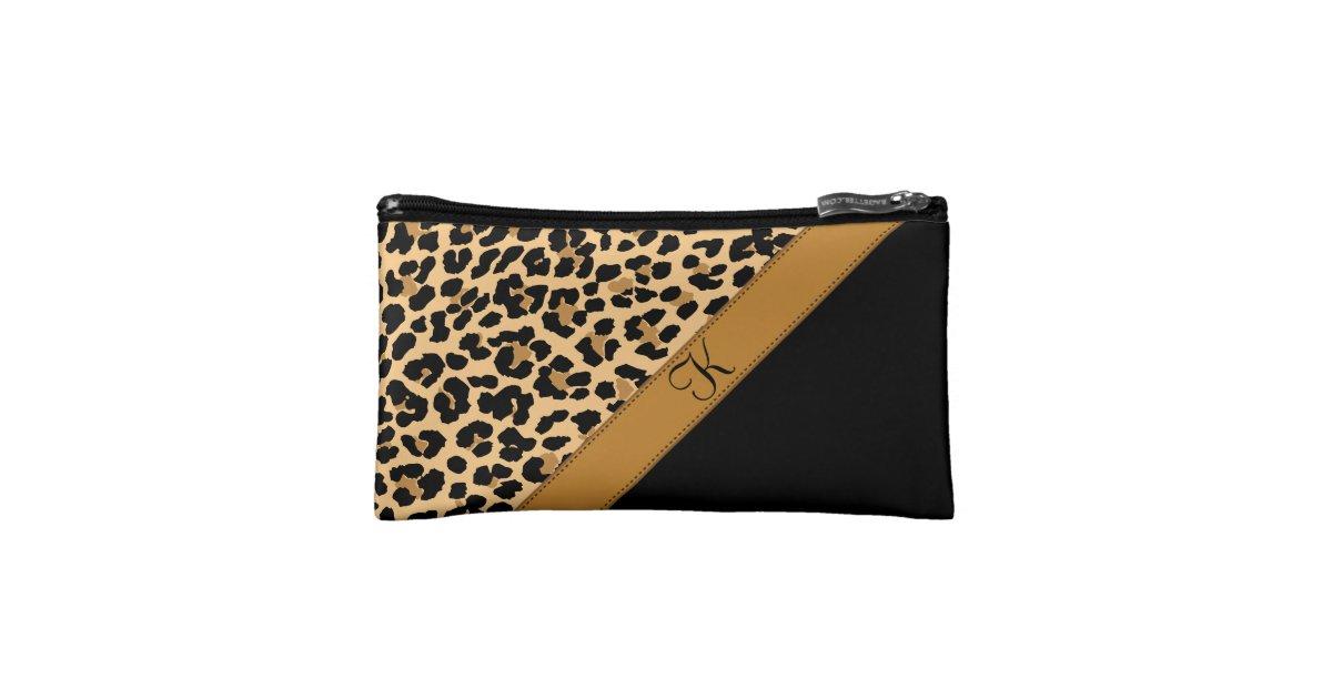 d0a6402b00d3 Leopard Print Monogram Cosmetic Bags   Wristlets