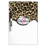 Leopard Print Monogram Dry-Erase Boards