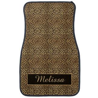 Leopard Print Monogram Floor Mats