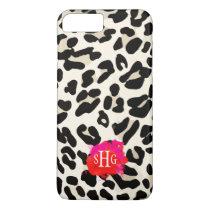 Leopard Print Monogram iPhone 7 Plus Case