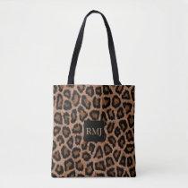 LEOPARD Print-MONOGRAM-Sophisticated-Handbag-Tote Tote Bag