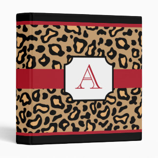 Leopard Print Monogrammed Scrapbook Binder