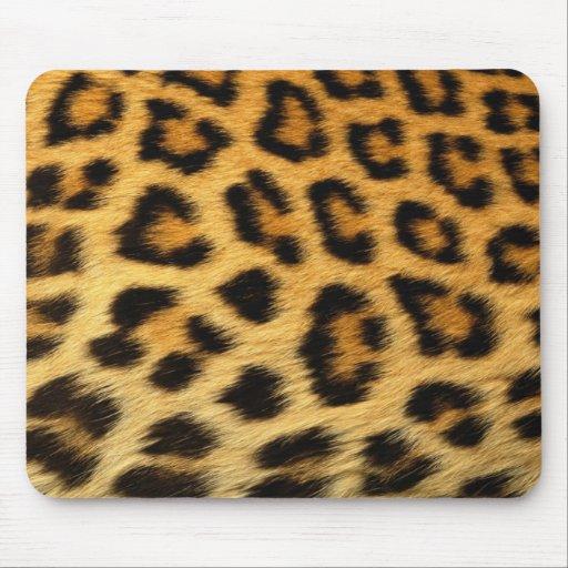 Leopard print mouse pads