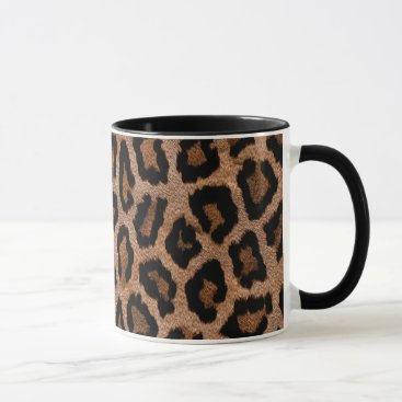Coffee Themed Leopard Print Mug