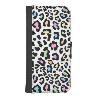 Leopard Print Multi Colors Phone Wallet Cases