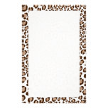 Leopard Print/Natural/Add background color!! Custom Stationery