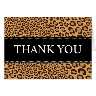 Leopard Print/natural/Thank You Cards