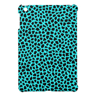 Leopard Print Neon tBlue iPad Mini Cases