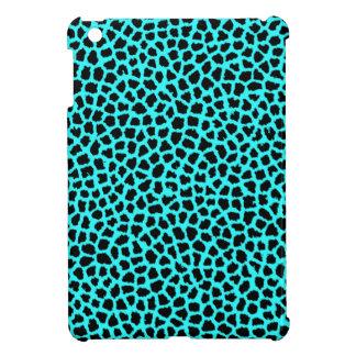 Leopard Print Neon tBlue iPad Mini Covers