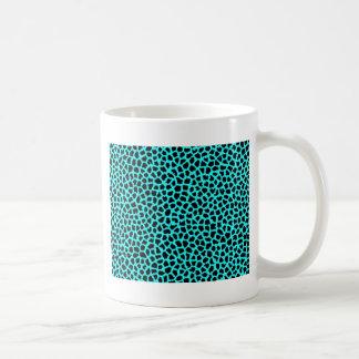 Leopard Print Neon tBlue Mug